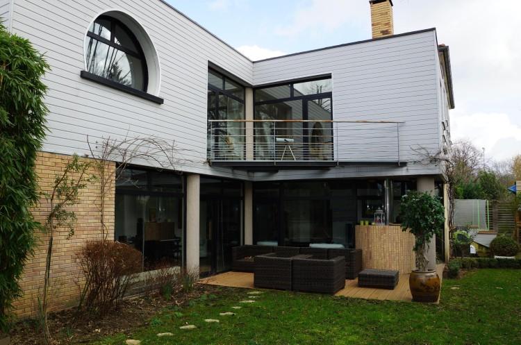 maison des ann es 20 avec extension contemporaine 10 39 pied du rer a. Black Bedroom Furniture Sets. Home Design Ideas